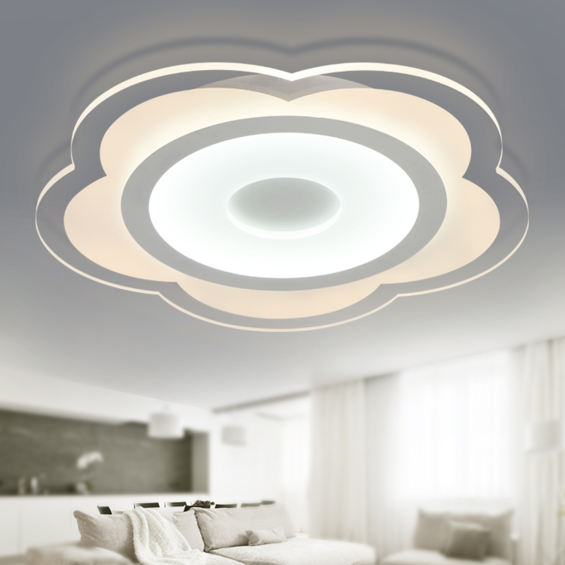 ФОТО Ultra Thin Acrylic Modern Led Ceiling Lights For Living Room Bedroom Fashion Acrylic Ceiling Lamp Lustre Iluminacion Led Techo