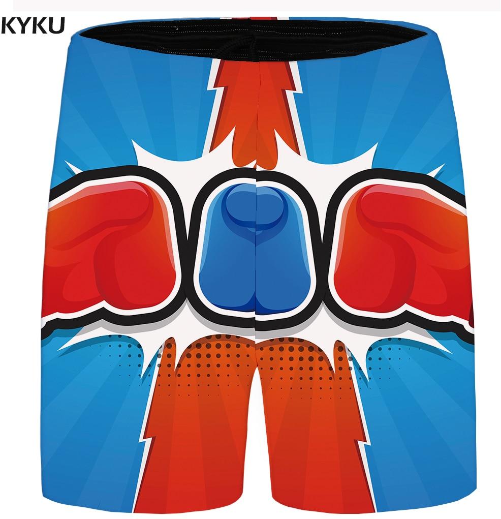 KYKU Brand Cartoon Shorts Men Blue Hawaii Beach Shorts War Cargo Casual Gothic Mens Short Pants 2018 New Male Summer Bottoms