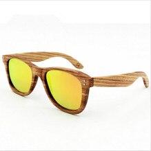 2016 Latest fashion Men/Women Handmade Wooden frame Sunglasses Polarized Eyeglasses Colorful Reflective lens Wood sunglasses