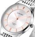 New LONGBO Luxury hours Sports Watch  Men's Quartz Watches Dress wristwatch Casual watch Waterproof man full steel watch 8696