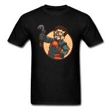 Summer T Shirts Fallout 4 76 5 Men T-shirt Lambda Boy 100% Cotton Fabric Male Tees Personalized Short Sleeve Tops Free Shipping