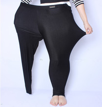 FSDKFAA พอดี 2018 150 กิโลกรัมไขมันมม. พลัสขนาดผู้หญิงฤดูใบไม้ร่วงสีดำเอวสูงไนลอนกางเกงขายาวยืดยืดหยุ่นสูงวัสดุ XL 5XL