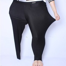 FSDKFAA 2018 Fit 150kg Fat MM Plus Size Women Autumn Black High Waist Nylon Leggings Pants