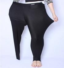 Fsdkfaa 2018 fit 150 kg 지방 mm 플러스 사이즈 여성 가을 블랙 하이 웨이스트 나일론 레깅스 바지 고탄성 스트레치 소재 XL 5XL