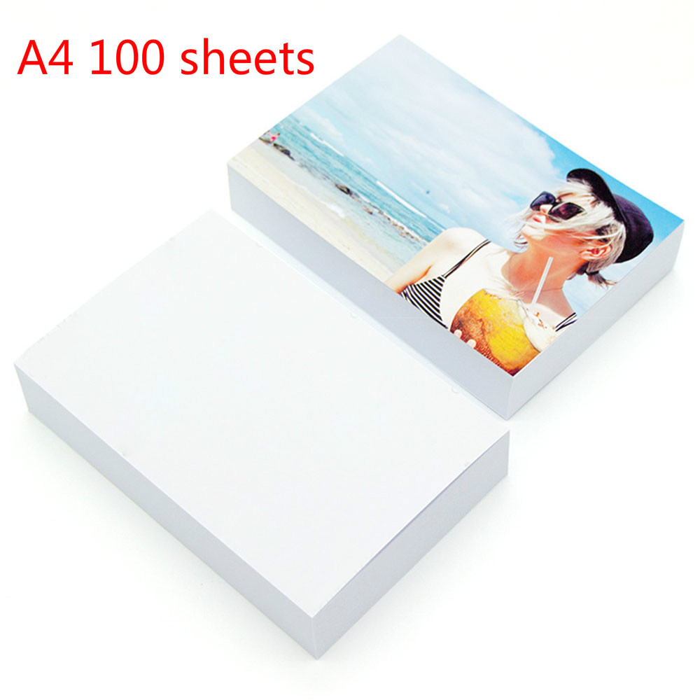 A4 5/6/7 inch Photo Paper Glossy Printer Photographic Paper High-gloss paper for Inkjet Printer Office 20 sheets /100 sheets image