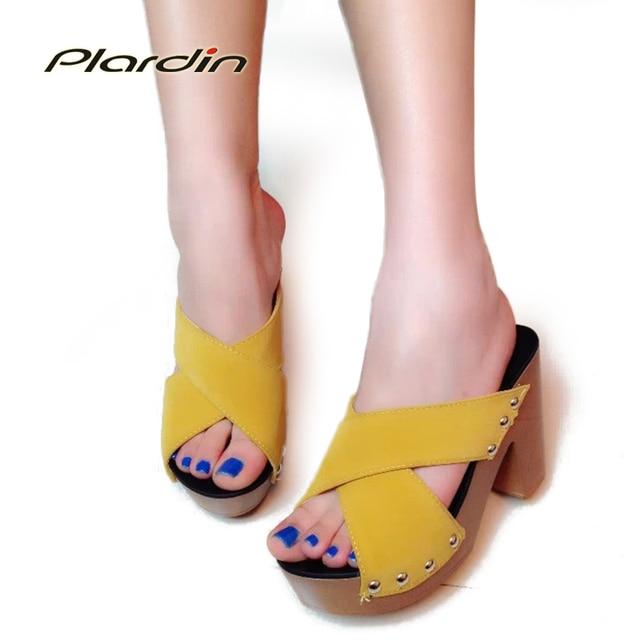 Plardin 2017 Bohemia Summer Casual Women's  Flat Platform Sandals  women shoes heels square heel Beach Sandals Shoes Woman