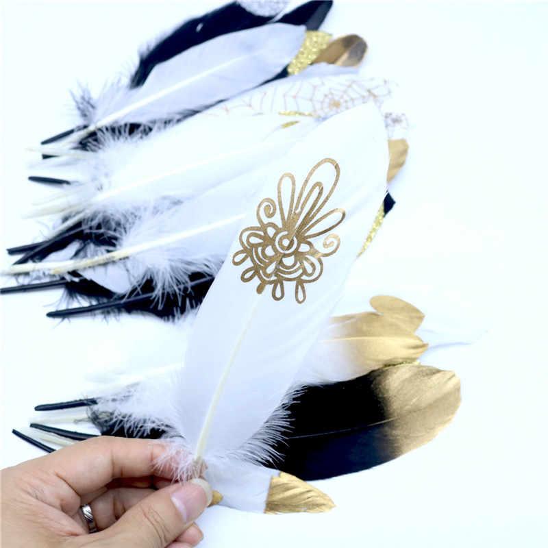 Перья 10 шт. 6-8 дюймов 14-20 см гусиные Шлейфы перья для карнавала, Хэллоуина, Рождества DIY ремесло украшения аксессуары
