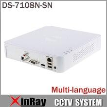 Más nuevo Multi-idioma DS-7108N-SN Plug & Play 8CH NVR Mínima para HD Cámara IP Sin Puerto POE Onvif CCTV de Vídeo en Red grabadora