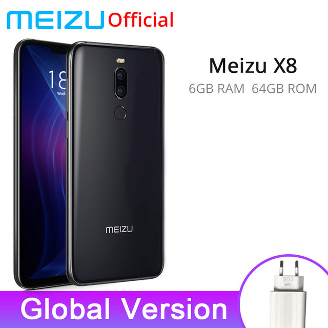 Global Version Meizu X8 4GB RAM 64GB  Mobile Phone Snapdragon 710 Octa Core 6.15'' 2220x1080P Front 20MP Camera Fingerprint
