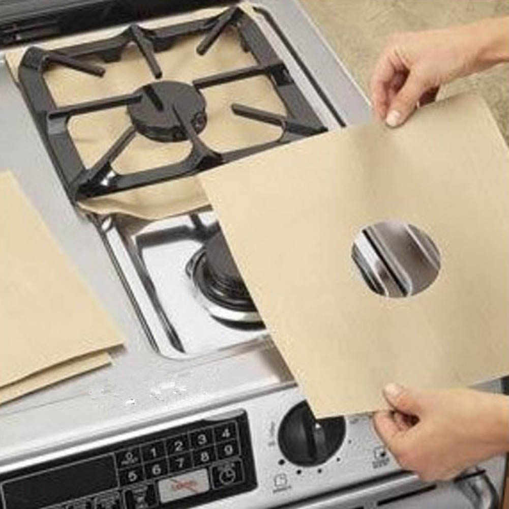 Gas Stove Cooker Protectors Cover/Liner Clean Mat Pad Gas Burner Covers  Stovetop Protector Kitchen Accessories