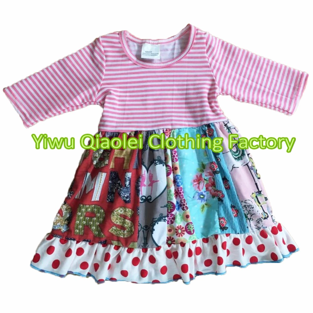 Stock cotton fabric baby dresses printing floral ON SALE limited quantities