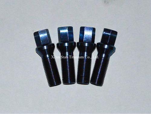 Titanium TC4 Gr5 Car Wheel Rim Ball Lug Bolts 14X1.5 30mm 45g/pc Strength More Than 900MPa For Volkswagen / Peugeot / Citroen