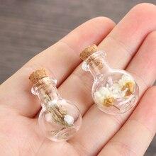 Mini Glass Cork Wishing Bottle Empty Sample Jars Wedding Home Decoration DIY Pendants Storage Vial Cork Stopper Jewellery Access