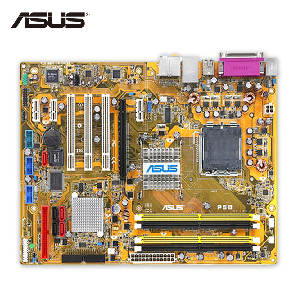 Asus P5B Desktop Motherboard P965 Socket LGA 775 DDR2 8G SATA2 USB2.0 ATX original motherboard for asus p5b deluxe lga775 ddr2 965board gigabit ethernet