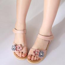 SKHEK Children Sandals 2018 Summer Girls PU Leather Princess Shoes for sandals party