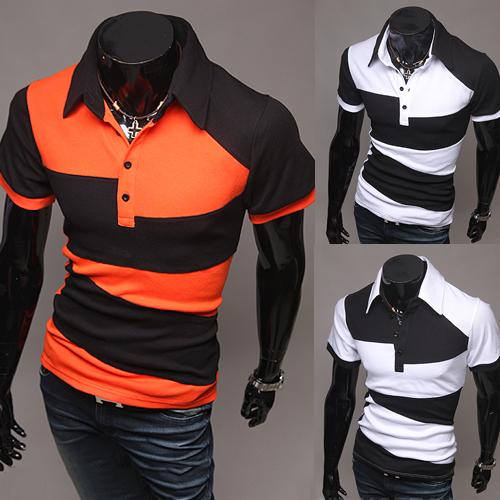 Remiendo de la vendimia Europea Marca Mens Polos Camisas 2016 Camisas de Polo Masculino de Impresión Ocasional Remata camisetas Camisa Uniforme Ee. Uu.
