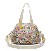 Multi pockets Practical Lady Shoulder Bag Fashion Casual Cute Print font b Handbag b font Contrast
