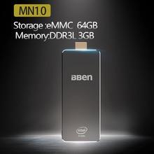 BBEN MN10 Windows10 Mini pc 3G Ram 64G Rom Intel Apollo Lake N3350 HD Graphics 2.4GHZ&5GHZ Dual Wifi BT4.0 Mini PC Computer