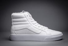 Vans classic sk8-hi autumn/winter velet plus warm unisex high top shoes for men and women skateboarding sneakers