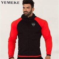 YEMEKE 2018 New Gyms Body Engineers Fashion Men Hoodies Brand High Quality Men Sweatshirt Hoodie Casual