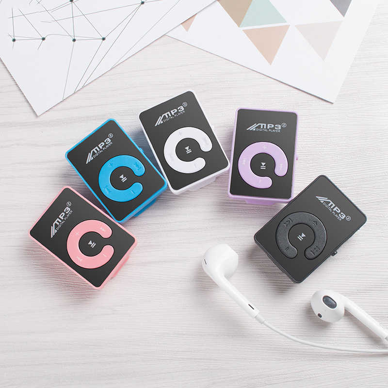 Mini reproductor MP3 de 6 colores compatible con tarjeta TF de 8GB con Cable USB