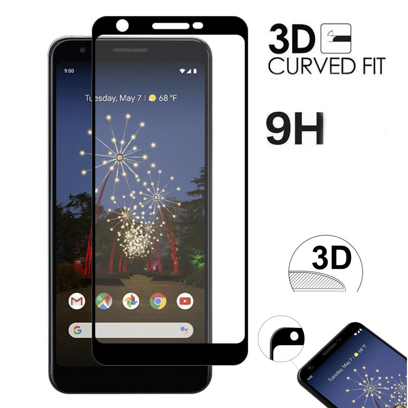 3D Full Coverage Tempered Glass For Google Pixel 3a 3 2 XL 2XL 3XL 3axL Pixel2 Pixel3 Phone Screen Protector Protective Film