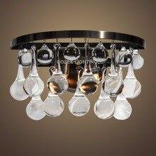 Glas Tropfen Kristall Wandleuchte Lampe Antike Messing Beleuchtung Fr Home Hotel Restaurant Wohnzimmer Und Dining R