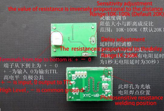 Microwave 5.8GHZ Radar Sensor