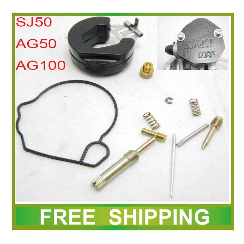 mikuni AG100 AG50 ZZ50 V100 50cc 100cc motorcycle carburetor kits repair tools gasket jet gasket idle valve needle free shipping