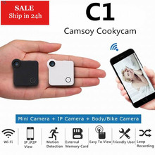 C1 Mini HD 720P Camera WIFI P2P Wearable IP Camera Motion Sensor Magnetic Clip Voice Recorder Bike Body Micro Mini DV DVR