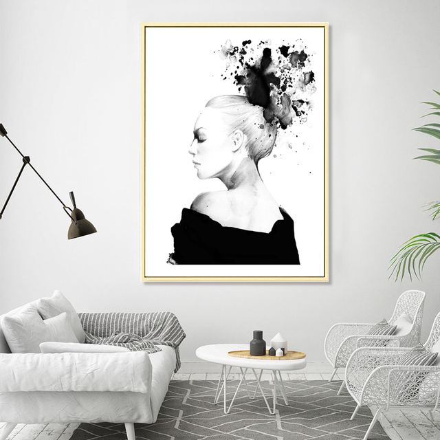 Pop art nordic abstract painting poster black and white wall art canvas prints modular paintings cuadros