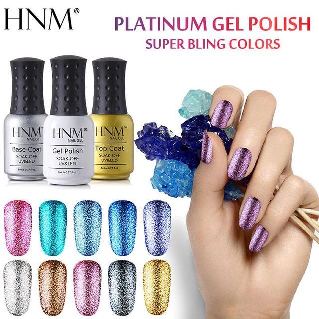 HNM 8 ML Glitter żel UV do paznokci nareszcie lampa LED żel lakier Esmalte Permanente żel do malowania paznokci polski paznokci tłoczenia Gelpolish tusz