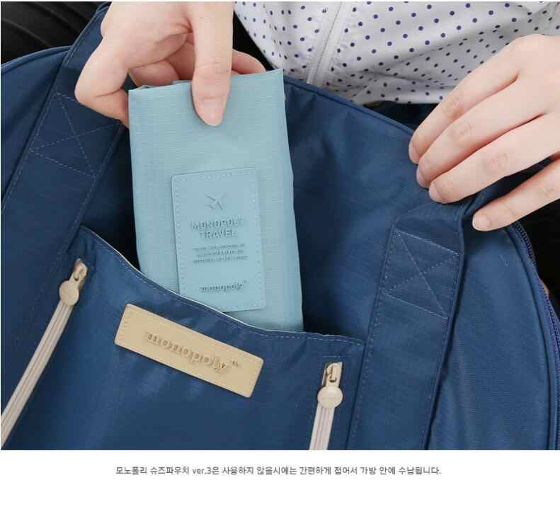 Wygodna torba do przechowywania podróżna Nylon 6 kolorów dwuwarstwowy przenośny organizer torby worek do sortowania butów wielofunkcyjny