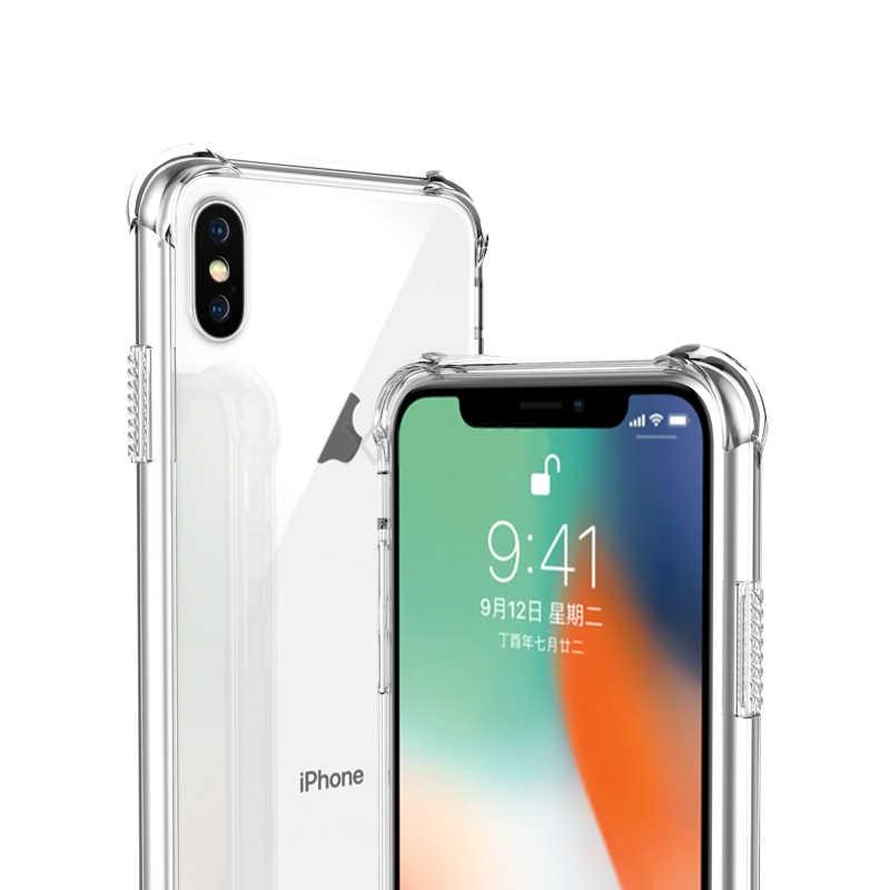Чехол для телефона 360 градусов Полная защита тела силиконовый прозрачный чехол оригинальный противоударный Броня чехол для iPhone 6 6 S 7 8 плюс 5 5S X