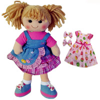 Smafes high quality 15 inch soft rag doll toy for girls stuffed fashion baby born doll with cloth interactive kids doll gift