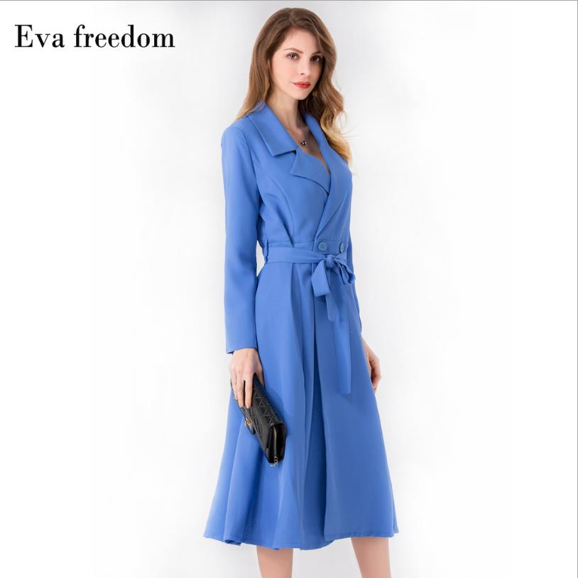 Spring Korean version women's fashion brand England style   trench   female casual was thin long outerwear with belt wq1169 dropship