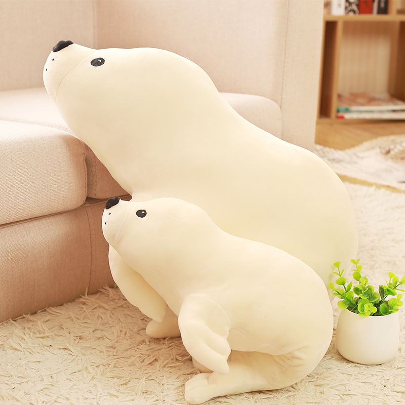 1pc 50cm/80cm New Cute Marine Animals Plush Toys Stuffed Plush Seal Doll Soft Pillow Kids Toy Birthday Gift the last airbender resource appa avatar stuffed plush doll toy x mas gift 50cm