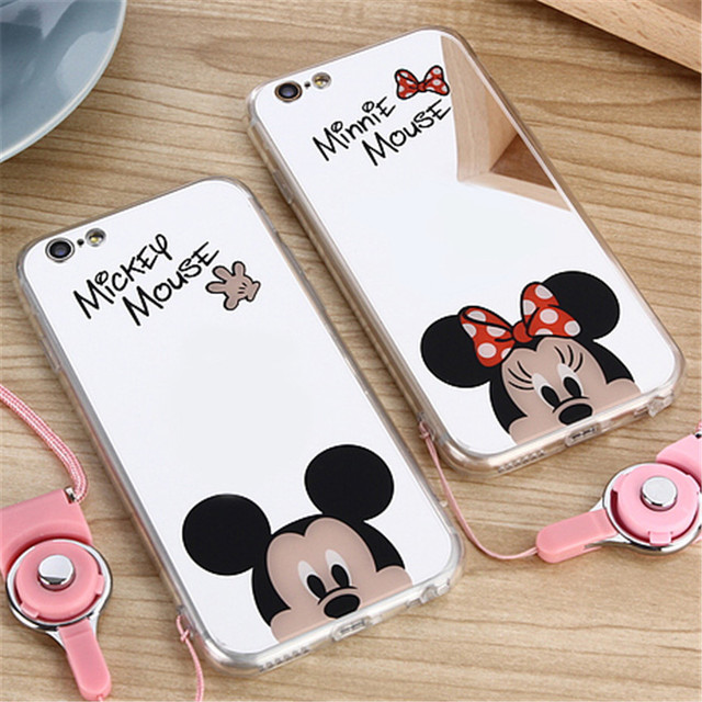 coque iphone 6 minnie miroir