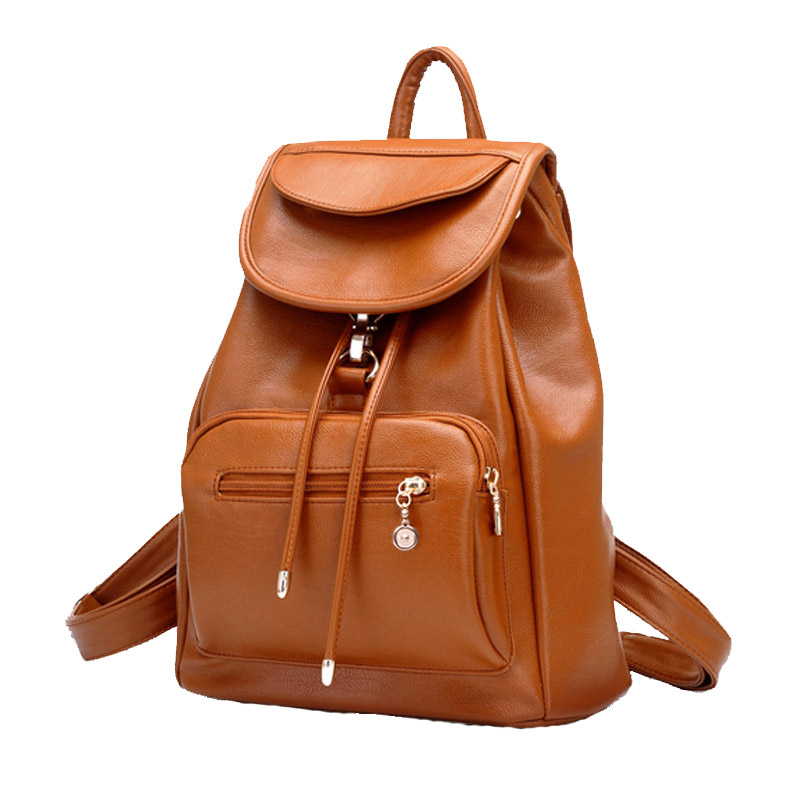 Fashion Women Backpack High Quality PU Leather Mochila Escolar School Bags For Teenagers Girls Top-handle Backpacks Travel Bags zhierna brand women bow backpacks pu leather backpack travel casual bags high quality girls school bag for teenagers