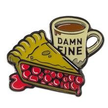 Twin Peaks Damn Fine Enamel Pin