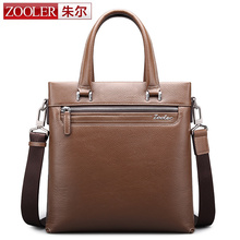 ZOOLER real leather bags for men Famous brand cross body bag genuine leather shoulder bag High quality briefcase 8302