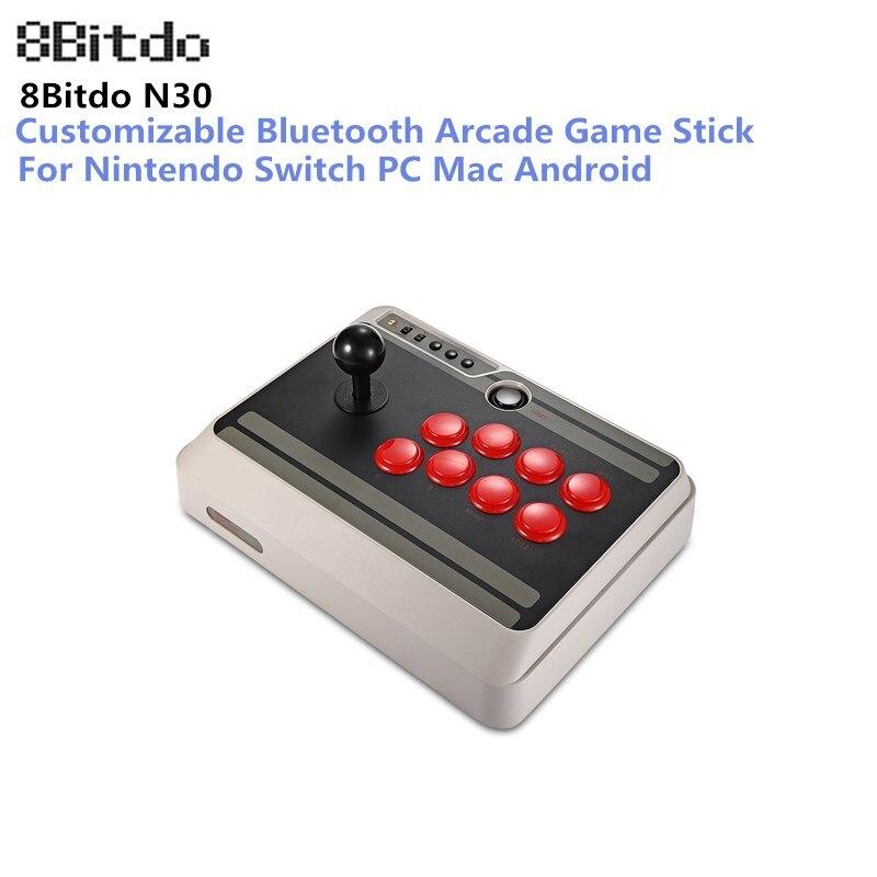 8bitdo N30 Bluetooth Arcade Manette De Jeu Manette Sans Fil Bluetooth Manette de Jeu pour Nintendo Switch PC Mac Android Téléphone
