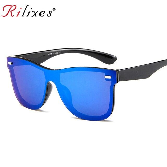 360572090ff RILIXES 2018 New Transparent Sunglasses Women Vintage Colorful Retro  Fashion Rimless Sun Glasses Women s Brand Eyewear