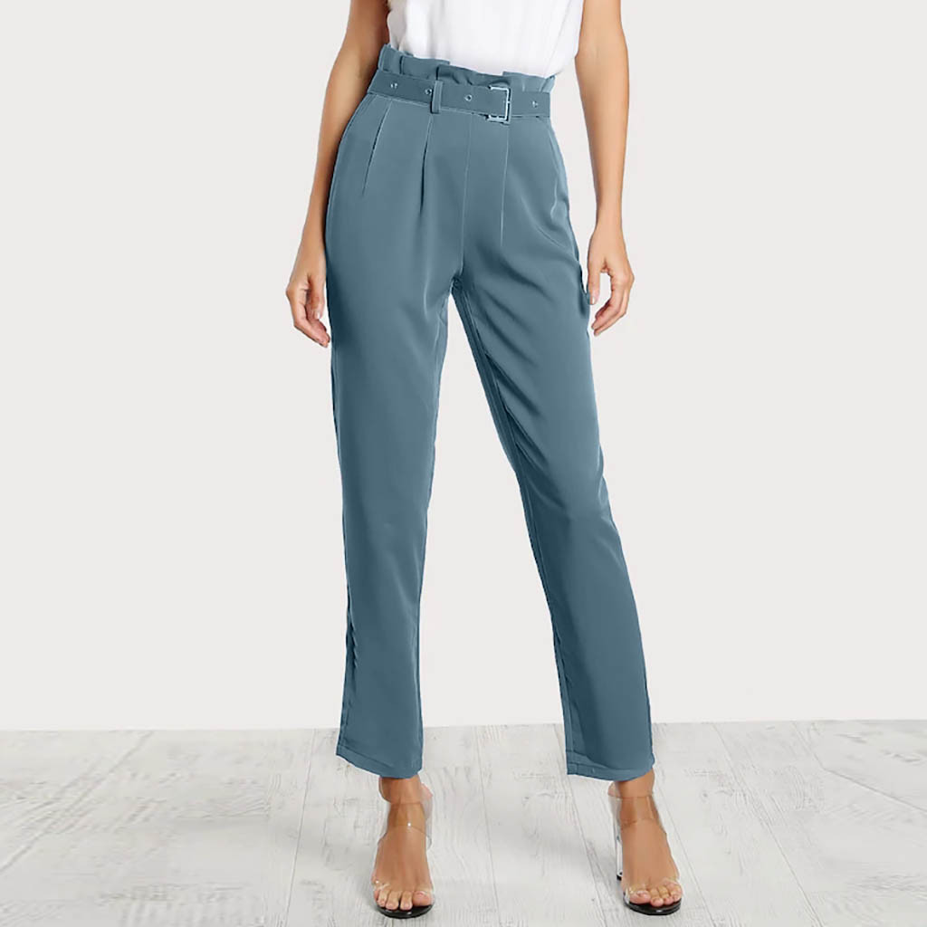 NWT MINK SIZE 12 PETITE HIGH WAISTED TAPERED LEG TROUSERS 26/'/' LEG