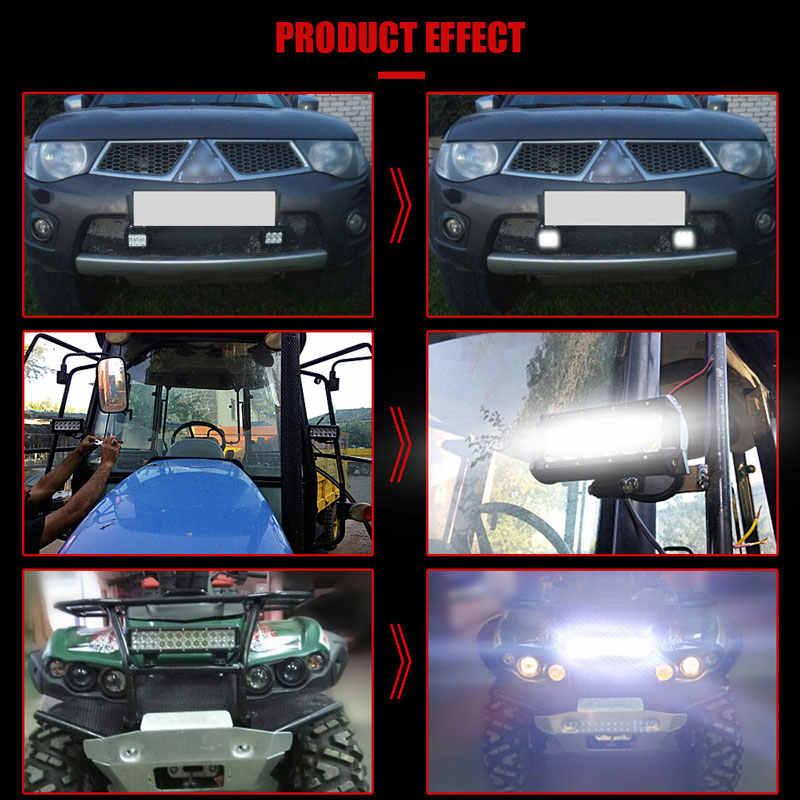 Внедорожный светодиодный фары для автомобиля рабочий свет бар 17 20 28 36 дюймов 108 Вт 126 Вт 180 Вт 234 Вт комбинированный высокий луч для авто ваз Jeep 12 В 24 В лампа