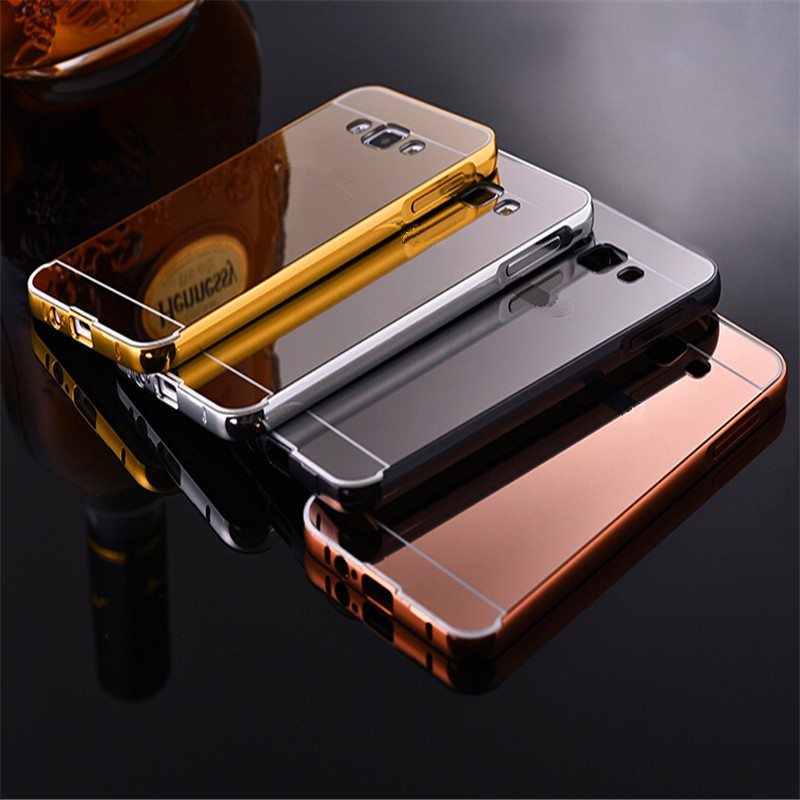 Luxury Fashion Mirror Case Samsung J1 mini ACE J2 J3 J5 J7 Metal Frame Phone Back Cover Galaxy J100 J310 J510 J710  -  3C Sea store