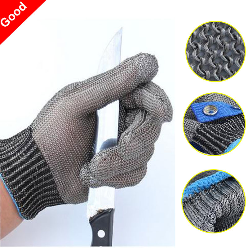 New Safety Cut Proof Stab <font><b>Resistant</b></font> Work <font><b>Gloves</b></font> Stainless Steel Wire Safety <font><b>Gloves</b></font> Cut Metal Mesh Butcher Anti-cutting <font><b>Glove</b></font>