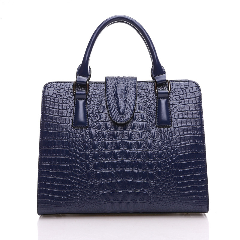 Hot Sale women handbag women messenger bags ladies shoulder bag genuine leather handbags Crocodile pattern tote bag large bolsos women crocodile pattern handbag fashion casual tote large shoulder bags ladies brand genuine leather shopping bag gift hand bag