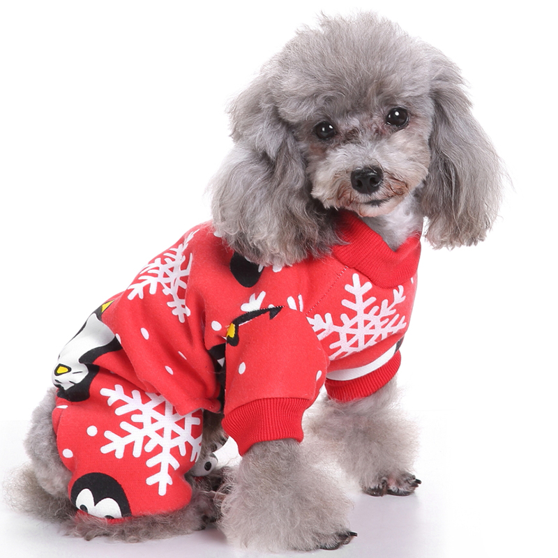 Christmas Pet Dog Clothes Winter Dog Coat for Small Dogs Overalls Clothing Christmas Pet Costumes Warm Pajamas Chihuahua Clothes