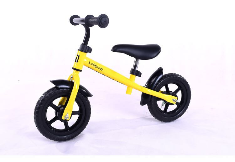 Hot Sales 12 inch Balance Bike Plastic Wheel Red Blue Yellow Pink Green Kid Bicycle High Quality Steel Frame for children